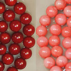 2mm,3mm,6mm,7mm,8mm Red Pink Orange Coral Round Beads 16""