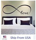 ryming quotes - LOVE Infinity Wall Decal Lettering Words Removable Vinyl Quote Stickers Bedroom