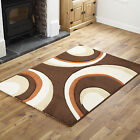 SOFT QUALITY LARGE MEDIUM SMALL MODERN RUG CHOCOLATE TERRA RUNNER RUG CHEAP COST