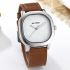 Fashion Square Dial Design Quartz Wrist Watch Leather Strap Men Watches Gifts