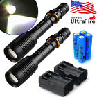 12000LM Police Tactical CREE XM-L T6 LED 5 Modes 18650 Flashlight Torch Zoomable