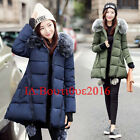 New Arrival Winter Women Fur Hooded High Quality Coat Down Cotton Jacket Parka