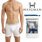 Mens Cotton Haigman White Boxer brief 3  Pack