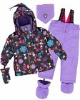 Deux par Deux Little Girls' 2-Piece Snowsuit Confetti Garden Lavender, Sizes 18