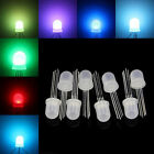 5-1000pcs DC5V Diffused round hat RGB LED with WS2811 led chips RGB F5 5mm 8mm