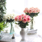 10 Stems Artificial Floral Silk Fake Flower Bouquet Home Decor Wedding Decor 8