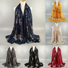 Ladies Embroidery Scarf Floral Shawl Soft Sunscreen Wrap Stole China Folk Hijab