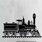 Train Locomotive Railroad Wall Decal Home Decor Art Mural Vinyl Wall Sticker