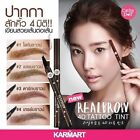 liner eyebrow pen 4D tatto color brown quick dry skin brush curve stick x1