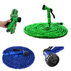 3X Expandable Garden Water Hose Water Pipe with 7 Modes Spray Gun 25 50 75 100Ft
