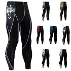 Mens Sports Apparel Skin Tights Compression Base Under Layer Workout Long Pants