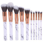 10Pcs New Face Powder Foundation Blush Cosmetic Makeup Brushes Beauty Tools