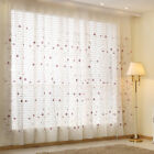 Sheer Tulle Curtain Rod Pocket Screen Custom Pink Voile Daisy Embroidered 1Piece
