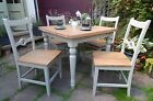 Lorene OAK Farmhouse EXTENDING Draw Leaf Kitchen Dining Set Table & Chairs