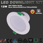 LED DOWNLIGHTS KIT DIMMABLE 12W SAA IP44 90MM CUTOUT WARM OR COOL WHITE  5 YEAR