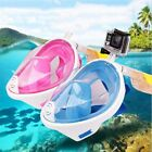 Full Face Snorkeling Mask Scuba Diving Swimming Snorkel Breath Tool for Gopro UK