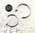 G23 Titanium Flat Top Nose Ring, Use for real or fake piercing
