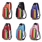 Unisex Travel Rainbow Rucksack Bag Rainbow Ladies Pride Rucksack Back Pack UK PO