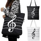 Korean Women Girl Single Shoulder Portable Musical Symbol Canvas Bag TXSU