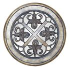 Fleur de Lis Round Wall Mirror Made in USA in 40 Colors