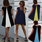 Women's Chiffon Casual Sleeveless Party Evening Cocktail Summer Short Mini Dress