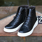 British style Men's Dance Lace Up High Top Sneakers Casual Skateboard Shoes Size