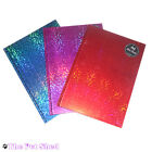 A4 A5 A6 Holograpic Lined Hardback Notepad Notebook Note Book Notes Journal