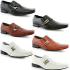 MEN BUCKLE STRAP ON CLASSIC LOAFERS CASUAL LEATHER WORK DRESS OXFORD SHOE