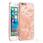 Marble Peach Clear Sides Hard Case Cover For Various Mobile Phones