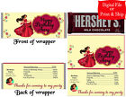 20 Personalized ELENA of AVALOR Full-Size Candy Bar Wrappers Pre-Cut w/Foil