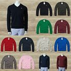 ABERCROMBIE & FITCH MEN`S V-NECK SWEATER PULLOVER JUMPER LAKE ROAD S,M,L,XL,XXL