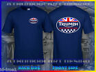 NEW TRIUMPH MOTORCYCLE T-SHIRT TRIUMPH MOTORCYCLES DARK BLUE T-SHIRT $15.0 USD
