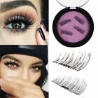 4PCS 2Pairs 3D Magnetic False Eyelashes Natural Eye Lashes Extension Handmade