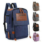 Men Women Vintage Canvas Backpack Satchel Rucksack School Bag Travel Camping Bag
