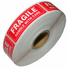 1 x 3 FRAGILE HANDLE WITH CARE Stickers