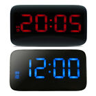 Digital LED Plastic Alarm Clock Voice Control USB AAA Battery Power Table Clock