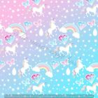 Pastel Unicorn Printed Canvas Fabric A4 Sheets Hair Bow Making Materials crafts