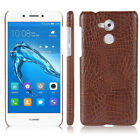 2017 Luxury Crocodile Grain Leather Thin Phone Case Cover For Huawei Honor 6C