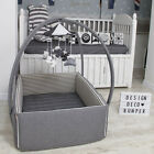 "DesingDeco Bumper  Baby Bed Crib Size W34"" L42"" Various designs FREE SHIPPING..."