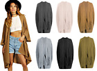 Ladies Oversized Baggy Ribbed Knitted Pocket Cape Womens Baggy Jumper Cardigan
