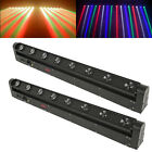8x12W LED Moving Head Beam DMX Light Pinspot Bar Party Stage Effect Lighting New
