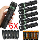 Ultrafire Tactical 90000Lumens T6 LED Zoomable Flashlight 18650&Charger&Holder