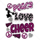PEACE LOVE CHEER T-SHIRT (UNISEX FIT)  CHEERLEADER