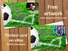 Personalised Football Birthday Party Picture Invitations / Thank You Cards Notes