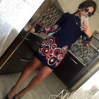 Fashion Women Casual Long Sleeve Bodycon Evening Party Cocktail Short Mini Dress