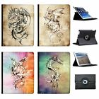 Flying Legendary Mythical Dragons Folio Cover Leather Case For Apple iPad