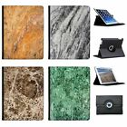 Print Of Natural Marble Folio Cover Leather Case For Apple iPad