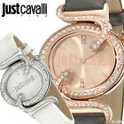 JUST CAVALLI SIN LADIES LEATHER STRAP WATCH SNAKE SHAPE CRYSTALS R7251591501/2