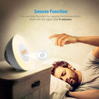 Bedroom Smart Wake-Up Light Lamp Alarm Clock Sunrise Simulation FM Radio Sounds