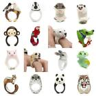 Cute 3d Animals Finger Ring Panda Monkey Pig Cat Frog Band Adjustable Size 5-9